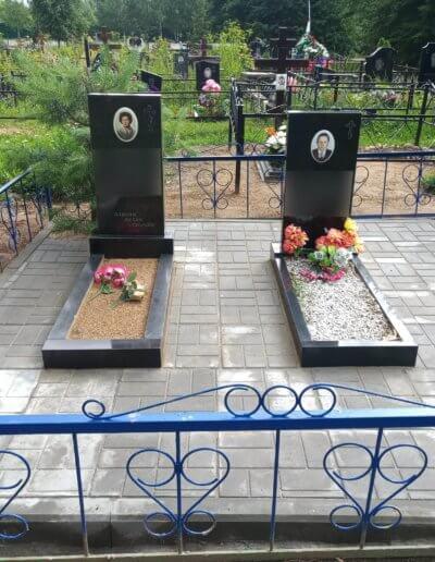 Укладка плитки на могилу