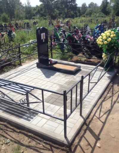 Благоустройство могилы, гранитный памятник